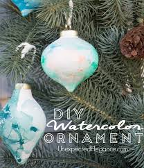 handmade watercolor ornament using nail