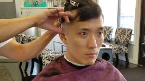 two ear hairstyle men s haircut tutorial 1 asian two blocks youtube