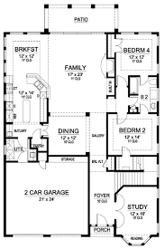 mission floor plans mission style in two versions 36347tx architectural designs