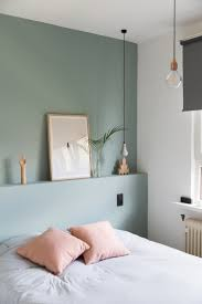 bedroom bedroom wall painting green and blue colour light colors