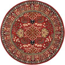 Round Red Rugs Safavieh Leather Shag Red 6 Ft X 6 Ft Round Area Rug Lsg511d 6r