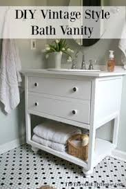 mission style open shelf bathroom vanity build plans open