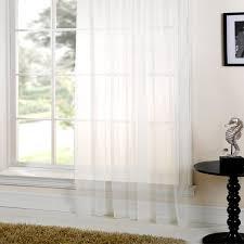 Plain White Curtains Curtains Plain Sheer Voile Curtain White Or 10m X