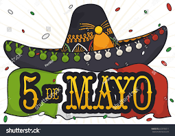 Mexican Flag Cartoon Poster Charro Mariachi Hat Mexican Flag Stock Vector 633786011