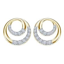 new fashion gold earrings buy vorra fashion new 14k gold 925 silver angelic circle