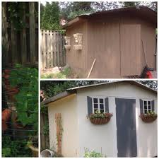 shed make over the brown shed was such an eyesore so i gave it a