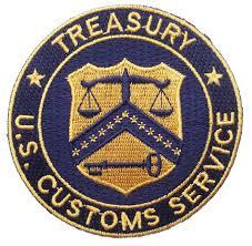 us customs service treasury patch copshop