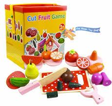 Toy Kitchen Set Food Wooden Magnetic Cut Fruit U0026 Veg Blocks Pretend Kitchen Play Food
