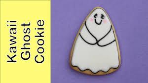 how to make a halloween cookie kawaii ghost cookie youtube