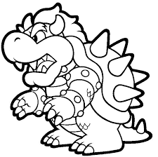 mario kart bowser coloring pages coloringstar