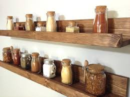 Wooden Spice Rack Wall Shelves Shelf Ideas Kitchen Wall Spice Rack Small Changes Big