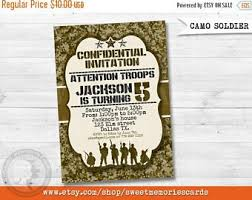 army invitations etsy
