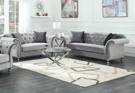 Velvet Sofa Bed Frostine Silver Velvet Sofa And Loveseat