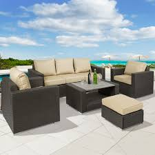 Patio Furniture Sectional - best choice products 7pc outdoor patio sectional pe wicker