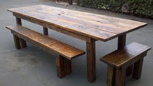 Wooden Patio Dining Set Reclaimed Wood Outdoor Dining Table Visionexchange Co