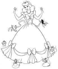 printable cinderella coloring pages asoboo