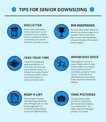 downsizing tips tips for senior downsizing infographic moves for seniors