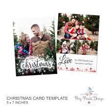 christmas card template merry u0026 bright 5x7 photo card