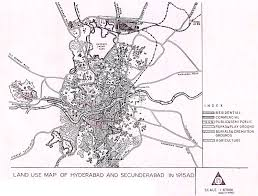 Hyderabad Map Land Use Map Of Hyderabad And Secunderabad In 1915 Mit Libraries