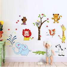 stickers jungle chambre bébé elephant wall stickers jungle zoo safari decor nursery