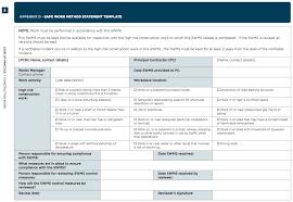 safe work method statement template free safe work method