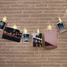 string lights with picture clips thumbs up usa photo clip string light