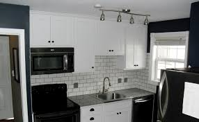 White Subway Tile Kitchen Backsplash by Black And White Tile Kitchen Backsplash Voluptuo Us