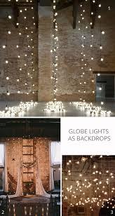 wedding backdrop lights globe string lights wedding lighting ideas