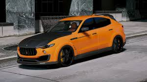 maserati yellow maserati levante mansory add on replace gta5 mods com