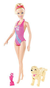 amazon barbie team barbie swimmer doll toys u0026 games