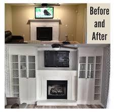 Bookshelf Around Fireplace Diy Fireplace Built Ins Using 4 Ikea Billy Bookcases Added Glass