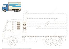 connect the dots to draw a truck free printable puzzle games