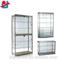 lockable glass display cabinet showcase modern jewelry aluminum glass display showcase lockable glass