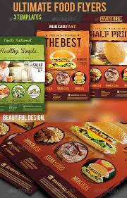 food flyer template restaurant happy hour food menu flyer