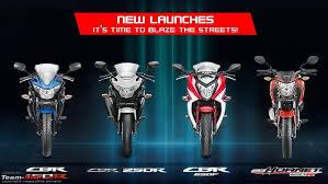 latest honda cbr bikes honda gives cbr 150r cbr 250r new colours decals for 2015 team bhp