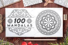 100 vector mandala ornaments illustrations creative market