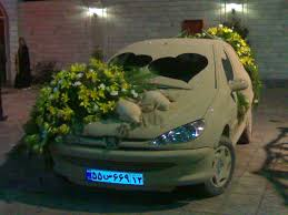 wedding car decorated with ideas wedding cars decorted