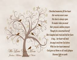 mother u0027s day gift for mom personalized poetry print from son