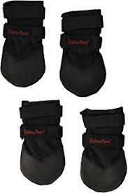 amazon com ultra paws durable dog boots black large pet boots