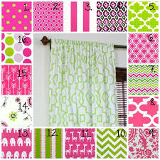 Chevron Nursery Curtains Pink Curtain Panel Set Nursery Curtains Bedroom Curtains