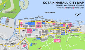 Map Of La Area Maps Of Sabah Amazing Borneo Tours