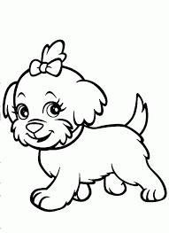 funny running shaggy dog coloring book dog color sheets