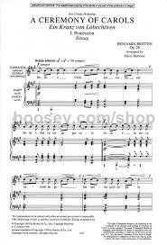 benjamin britten a ceremony of carols satb harp