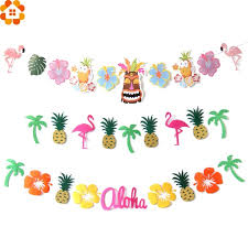flower garland 1set flamingo bunting banner flower garland party garland diy