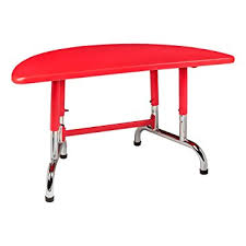 half table for kitchen amazon com sprogs adjustable height red half circle plastic