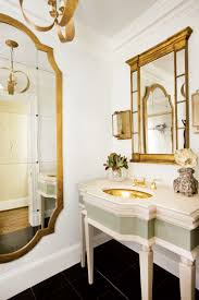 interior design cool powder room ideas with copper ornament
