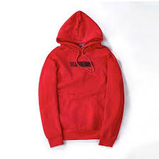 superwe thicker red hoodie with phandom logo for sale best