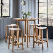 high table with stools solid oak high table bar stools set primrose plum