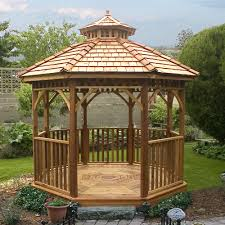 Patio Gazebo Lowes by Outdoor Living Today Bayside10 Bayside 10 Ft Cedar Panelized