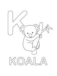 koala coloring pages koala alphabet coloring pages free koala